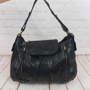 Kooba Black leather shoulder hobo  bag